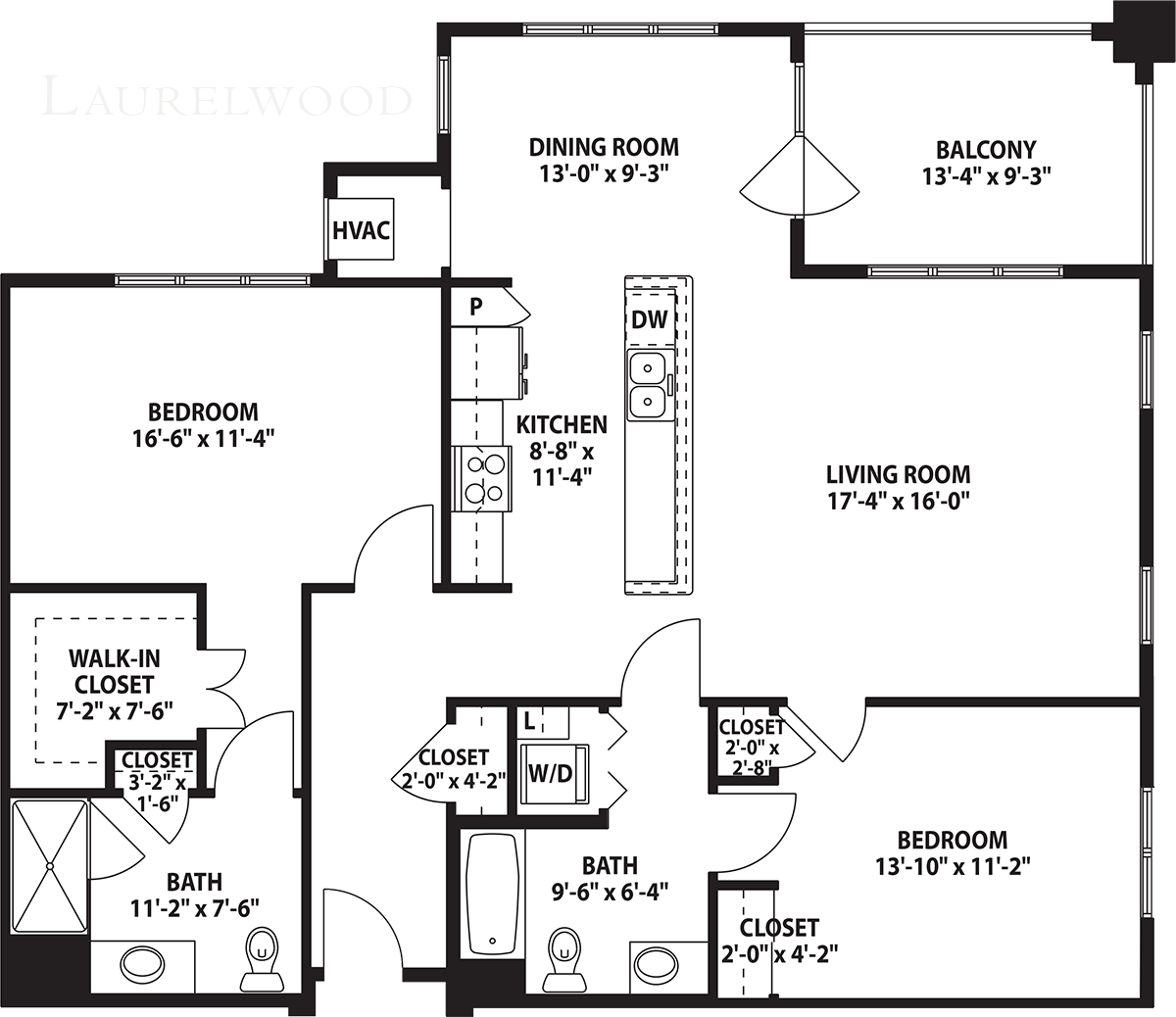 Interactive map of the Laurelwood floor plan that includes pop-up images of the interior