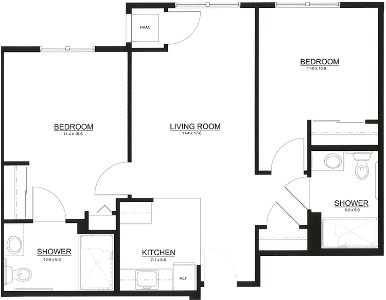 Deluxe Two Bedroom, Two Bath