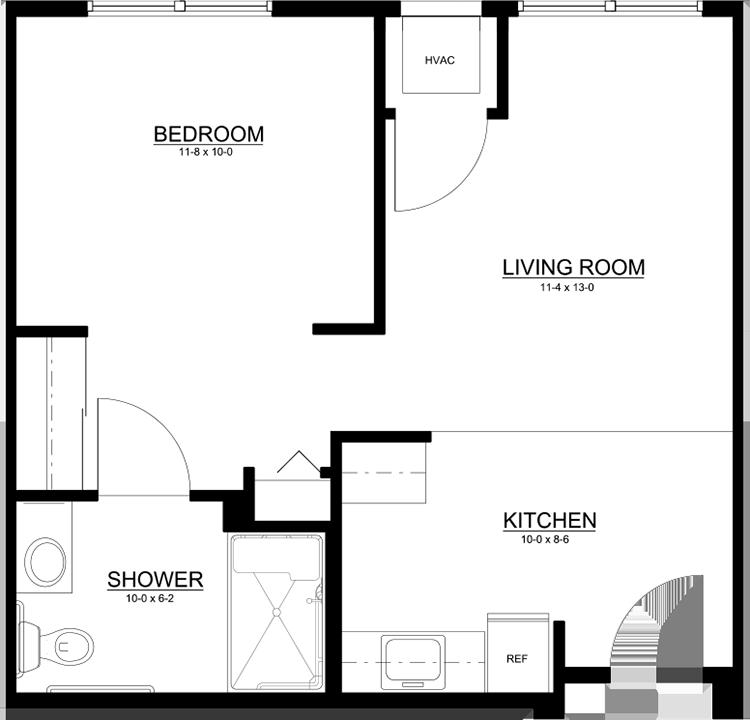 Standard One Bedroom, One Bath